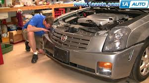 how to install replace front bumper cover cadillac cts 03 07