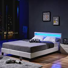 home deluxe led bett astro 140 x 200 weiß