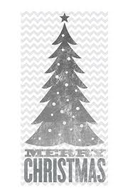 Image Of Sixtrees Silver Foil Christmas Tree Wall Art