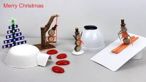 Christmas Miniature Wooden Snowman Garden DIY