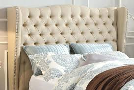 Skyline Button Tufted Headboard by Tufted Linen Headboard U2013 Senalka Com