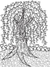 Willow Tree X Colouring PagesAdult