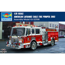 100 Model Fire Truck Kits Trumpeter 02506 125 Scale American Lafrance Eagle Pumper 2002