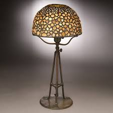 Home Depot Lampe Tiffany by Tiffany Lampe U0027galets U0027 Bronze Patiné Quartz Et Verre