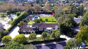 100 Holmby An Aerial View Of 355 South Mapleton Drive For Sale In The Hills Area Of LA