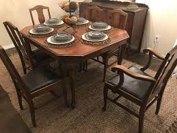 100 Heavy Wood Dining Room Chairs Antique SOLID Wood Dining Table 6 Chairs Very Very Sturdy VERY WELL MADE HEAVY
