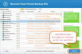 Way to Transfer Backup Text Messages from iPhone to puter