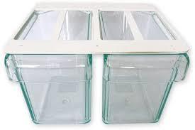 2fach unterbau schüttenkasten küchen schüttensatz mit 2 schütten einbau schüttenrahmen zum montieren unter einem hängeschrank oder einlegeboden