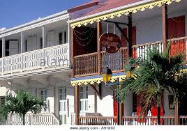 Caribbean French West Indies St Martin Marigot Buildings On Rue De