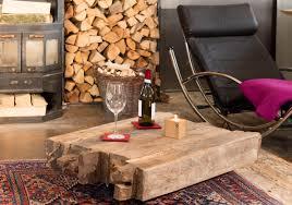 altholz couchtisch balken aus eiche auf rollen 100 x 60 cm