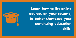 How To List Line Courses On A Resume Examples And Tips Add Continuing Education