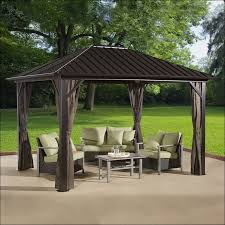 exteriors wonderful patio curtains lowes permanent patio gazebo