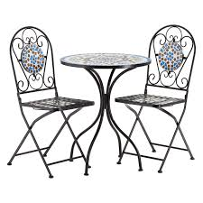 Details About Amalfi Table Set Table 2 Folding Chairs Blue/Brown Mosaic  Home Furniture Woodside Set Of Two Decorative Mosaic Folding Garden Chairs Outdoor Fniture Bermuda Bunk Bed 80x190 Cm White Kave Home Shop Online At Overstock Nano Chair Ding Add On Create Your Own Bundle Inexpensive 16 Fabulous Ways To Decorate Covers Sashes Dpc Event Services Metal 80 For Sale 1stdibs 10 Modern Stylish Designs 13 Types Of Wedding For A Big Day Weddingwire Shin Crest Gray Color 4 Details About Amalfi Greystone Table 2 60 D X 72 Grey Cortesi Chdc700205 Ddee Inoutdoor With Wicker Seat Brown