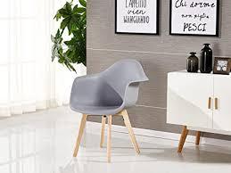 p n homewares da tub stuhl skandinavisch esszimmerstuhl bürostuhl wohnzimmer stuhl in weiß dunkelgrau hellgrau weiß und schwarz retro