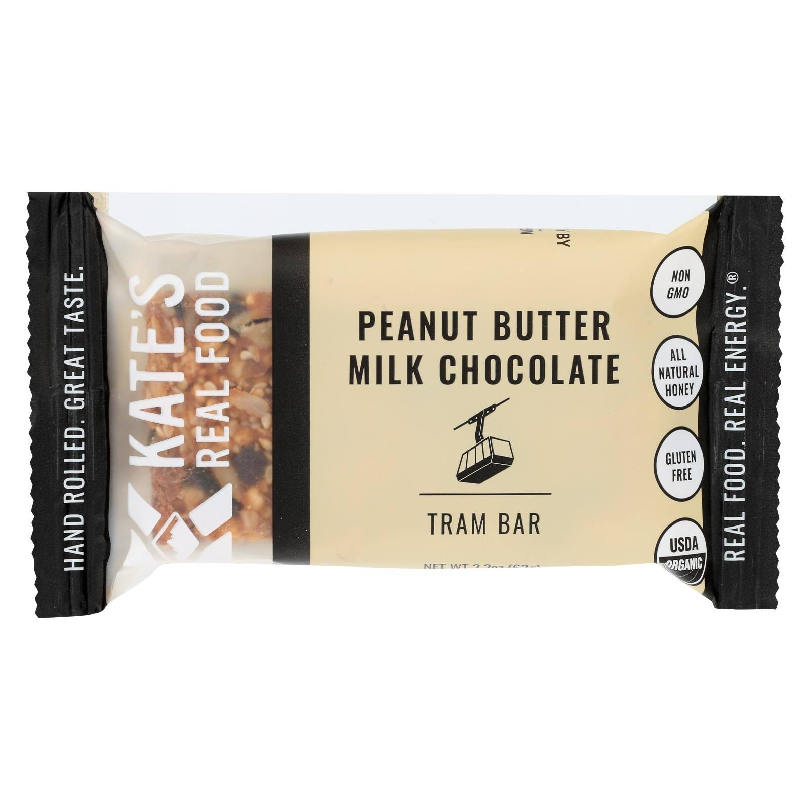 Kate's Real Food Tram Bar, Peanut Butter Milk Chocolate - 2.2 oz