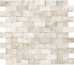 Tile Shops Near Plymouth Mn by Anatolia Tile Ivory Brick Mosaic Natural Stone Travertine Wall