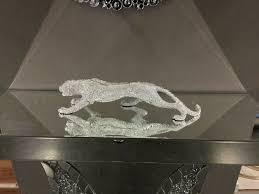 dekoration leopard silber wohnzimmer esszimmer büro