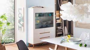 vitrine cervo highboard schrank wohnzimmer weiß matt lack