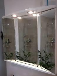 spiegelschrank bad weiss bxh 67x63cm drei türig licht