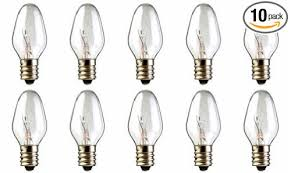 10 pack 15 watt bulbs for scentsy in nightlight warmer wax
