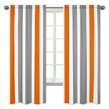 gray orange striped curtain panels sweet jojo designs target