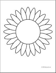 Sunflower Coloring Sheet Clip Art Flower Page I On Simple Funny