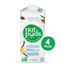 Nutpods Unsweetened Dairy Free Coffee Creamer French Vanilla Whole30 Paleo Keto Vegan Sugar