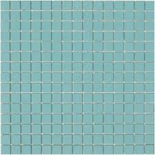 lyric unglazed porcelain rectified edge mosaic tile in aquarius