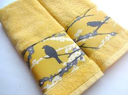 Decorative Hand Towel Sets by Bathroom Decorative Yellow Bathroom Accessories With Bathroom