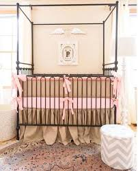 Bratt Decor Crib Skirt by Joy Canopy Crib Vintage Gold
