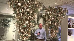 Upside Down Platinum Christmas Tree
