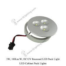 led cabinet puck lights 3w 12v cabinet recessed led puck light