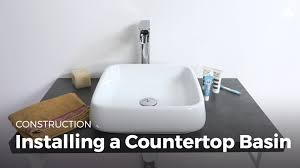 Unclogging A Bathroom Sink Youtube by Learn Installing A Countertop Sink Household Diy Projects Sikana