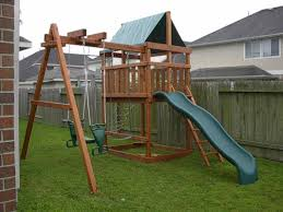 How To Build DIY Wood Fort And Swing Set Plans From Jack's ... Freestanding Aframe Swing Set 8 Steps With Pictures He Got Bored With His Backyard So Tore It Down And Pergola Canopy Fniture Free Pergola Plans You Can Diy How To Build A Arbor Howtos Diy Nearly Handmade Building Stairs For The Club House To A Fort Outdoor Goods Simpleeasycheap Porbench 2x4s Youtube Discovery Weston Cedar Walmartcom Combination Playhouse And Climbing Wall How Porch Made From Pallets Simple Ideas All Home For Tim Remodelaholic Tutorial An Amazing Firepit