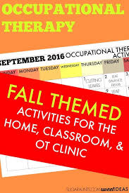 September Occupational Therapy Activities Calendar