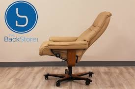 Stressless Sunrise Office Desk Chair Paloma Sand Leather By Ekornes