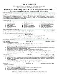 Electrician Helper Resume Electricians Example Apprentice Objective Assistant Sample