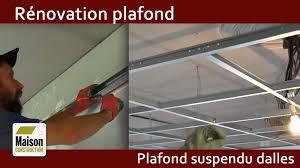rénovation plafond ancien plafond suspendu dalles acoustiques