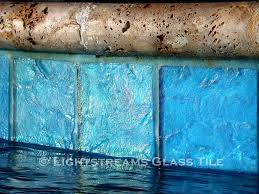 6x6 White Pool Tile by Lightstreams Glass Waterline Tile Various Colors