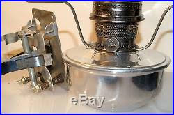 Aladdin Caboose Lamp Bracket by Railroad Caboose Oil Kerosene Lamp Lantern 23 Burner Mount U0026 Chimney