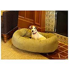 Arlee Home Fashions Dog Bed by Amazon Com 52 Inch Chocolate Suede Bagel Dog Bed By Majestic Pet