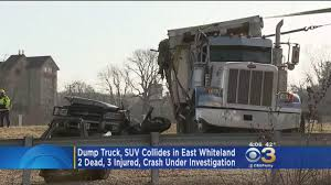 2 Dead, 3 Others Injured After Dump Truck Crushes SUV On Route 202 ...