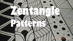 5 Zentangle Patterns For Beginners How To Draw Easy Doodle Art Tutorial Drawing Step By