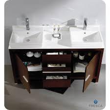 Bathroom Sink Vanities Overstock by 60 Inch Double Sink Vanity With Quartz 60 Inches Wenge Brown