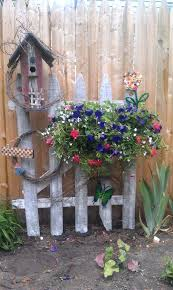 Rustic Garden Pots Ideas For Decorating Your Fence Large Flower