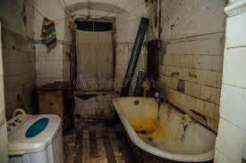 Download Dirty Messy Bathroom Is In The Poor Apartment Old Emergency House Stock Image