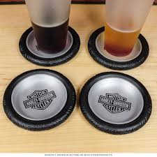Harley Davidson Bathroom Themes by Harley Davidson Motorcycle Tire Drink Coaster Set Bar Gift Sets