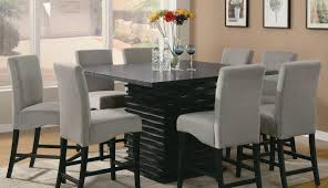 Black Table Sets Seats Ideas Makeover Small Round Chair And White Square Dining Modern Tall Contemporary
