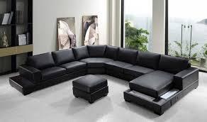 Armen Living Barrister Sofa by Amazing Modern Black Bonded Leather Sectional Sofa Set Modern