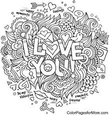Dazzling Love Mandala Coloring Pages Doodle You Colouring OeZentangles Adult Pinterest Free Printable And